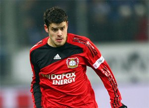 Tranquillo Barnetta in action for Bayer Leverkusen