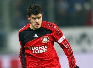 Tranquillo Barnetta in action for Bayer Leverkusen
