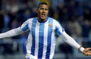 Rondon in action for Malaga