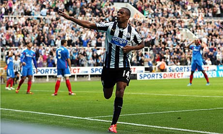 Newcastle United's Loic Remy scored in the Premier League against Hull City at St James' Park